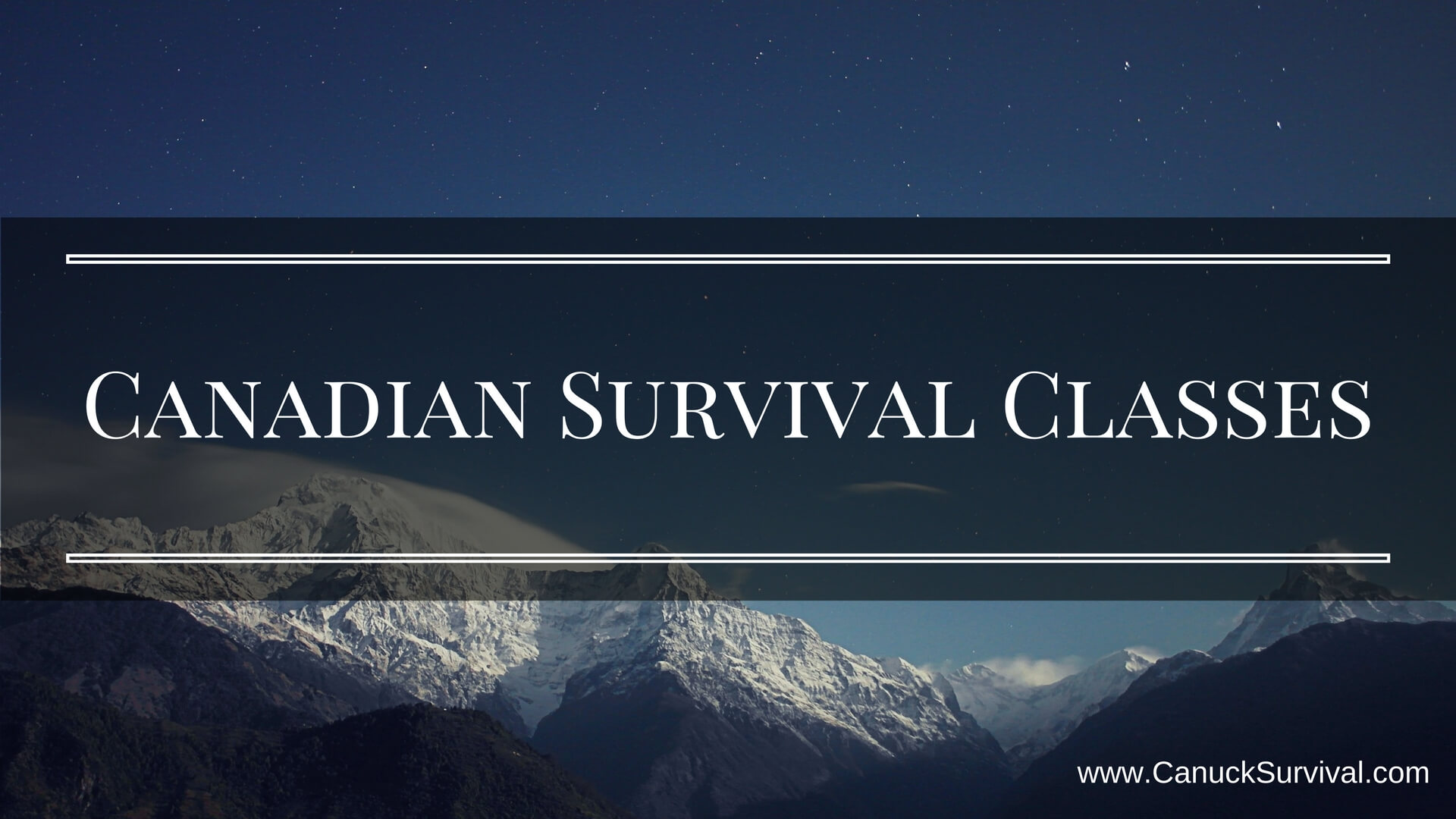 Canadian Survival Classes