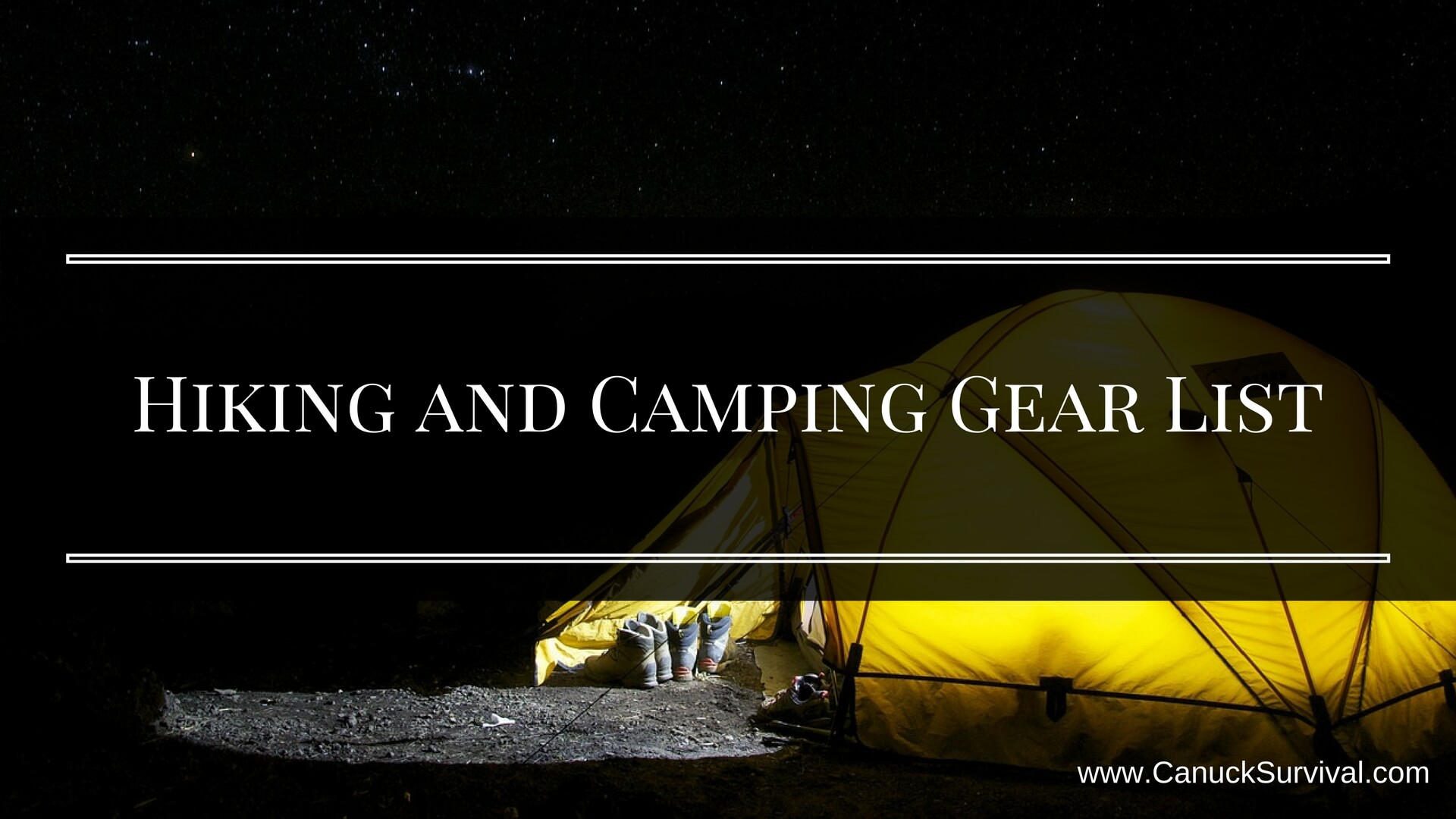 Hiking and Camping Gear List