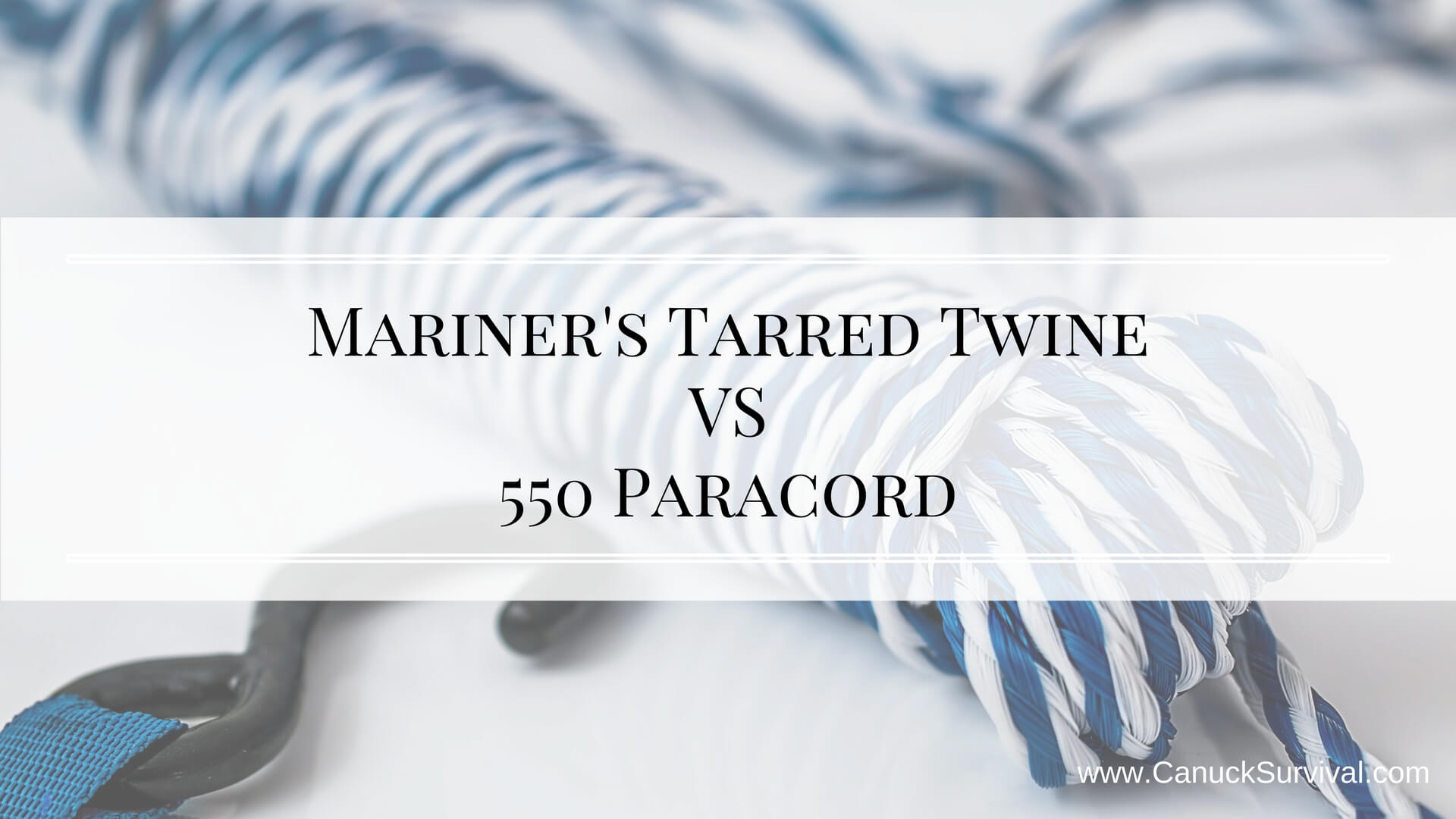 Mariner's Tarred Twine VS 550 Paracord